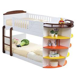 Acme Furniture 37715 Neptune Bunk Bed with Storage Shelves,