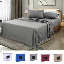 4 Piece Fitted Bed Sheet Set Egyptian Comfort 2200 Count Dee