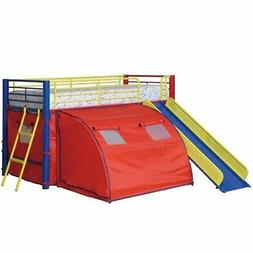 Coaster 7239 Oates Loft Bunk Bed With Tent And Slide Attache