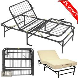 Adjustable TWIN XL Size Bed Frame Head Foot Lift Platform Fo