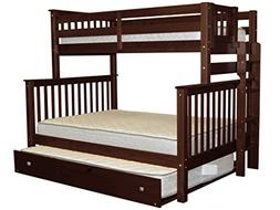 Bedz King Twin Over Full Bunk Bed with Twin Trundle