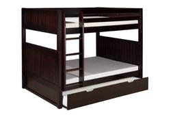 Camaflexi Panel Style Solid Wood Full-Over-Full Bunk Bed wit