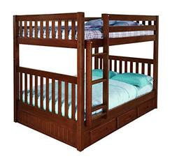 Discovery World Furniture Full Over Full Bunk Bed with 3 Dra