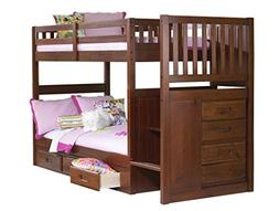 Discovery World Furniture Mission Staircase Bed with 3 Drawe