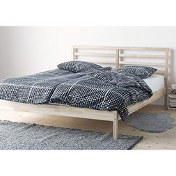 Ikea Tarva Queen Size Bed Frame Solid Pine Wood Brown