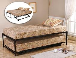 Kings Brand Furniture Twin Size Black Finish Metal Day Bed