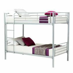New Metal Twin over Twin Bunk Beds Frame Ladder Kids Adult C