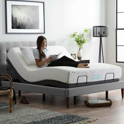 LUCID Adjustable Bed Base with Motorized Head/Foot Incline a