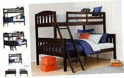 Airlie Solid Wood Bunk Beds Twin Over Full with Ladder and G