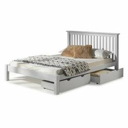 Alaterre Barcelona Queen Wood Platform Bed with Storage Draw