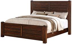 Abbey Avenue B-TET-QB Teton Panel Bed, Queen, Chestnut