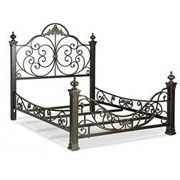 Baroque Complete Bed with Massive Cast Metal Grills and Deco