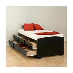 Prepac BBT 4106 Platform Storage Bed 6 Drawers Black Mattres