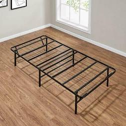 Bed Frame Platform Twin Size Foldable Metal Steel Heavy Duty
