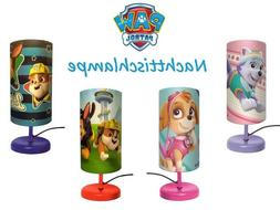Paw Patrol Bedside Lamp 4 Motifs for Girls and Boys New Chas