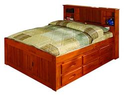 Discovery World Furniture Bookcase Captains Bed with 6 Drawe