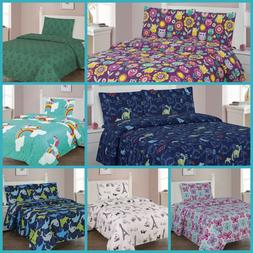 BOYS AND GIRLS BED  PREMIUM COLLECTION PRINTED BEDDING COMPL