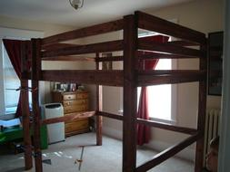Build Your Own LOFT BUNK BED  Pattern DIY PLANS; So Easy, Be