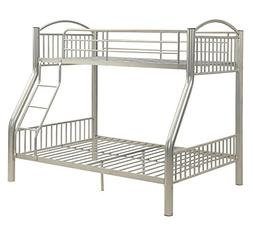 ACME Cayelynn Silver Twin over Full Bunk Bed