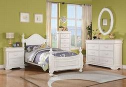 Acme Furniture Classique Twin White 6 Piece Finish Girls Bed