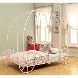 Coaster Lexi Princess Twin Canopy Bed, Item 400155T