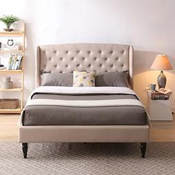 Classic Brands DeCoro Coventry Upholstered Platform Bed   He