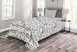 Ambesonne Coverlet Set Bedspread Twin Size, Abstract Style P