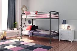 DHP Twin Over Twin Metal Bunk Bed, Multiple Colors