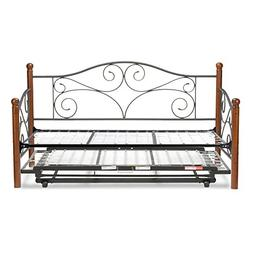 Fashion Bed Group Doral Complete Metal Daybed with Link Spri