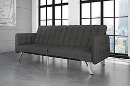 DHP Emily Convertible Futon and Sofa Sleeper, Modern Style w