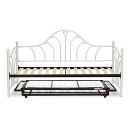 Fashion Bed Group Emma Complete Metal Daybed with Euro Top S