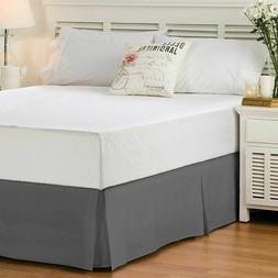 """Bed Skirt 14"""" Drop King Queen Full Size Pleated Tailored H"""