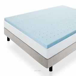 LUCID 2 Inch Gel Infused Ventilated Memory Foam Mattress Top