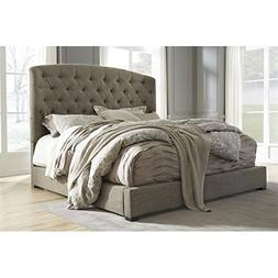 Ashley Gerlane King Tufted Low Profile Bed in Graphite