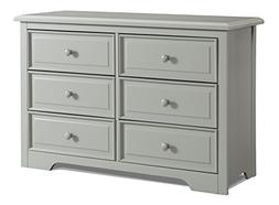 Graco Brooklyn 6 Drawer Double Dresser, Pebble Gray, Kids Be