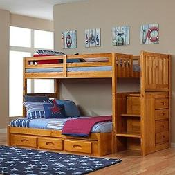 Discovery World Furniture - Honey Mission Staircase Bunk Bed