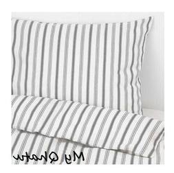 Ikea Hostoga Twin Duvet Cover w/Pillowcase Bed Set Stripe Gr