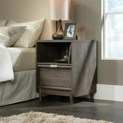 Industrial Nightstand Bed Side Table Accent Drawer Storage L