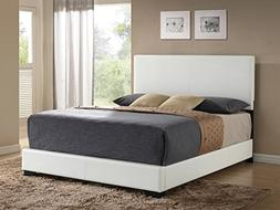 ACME Ireland III White Faux Leather Eastern King Bed