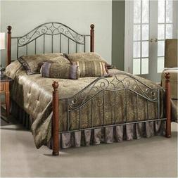 Hawthorne Collections King Metal Poster Spindle Bed in Smoke