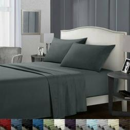 King Size Soft Sheets Comfort Count 4 Piece Deep Pocket Bed