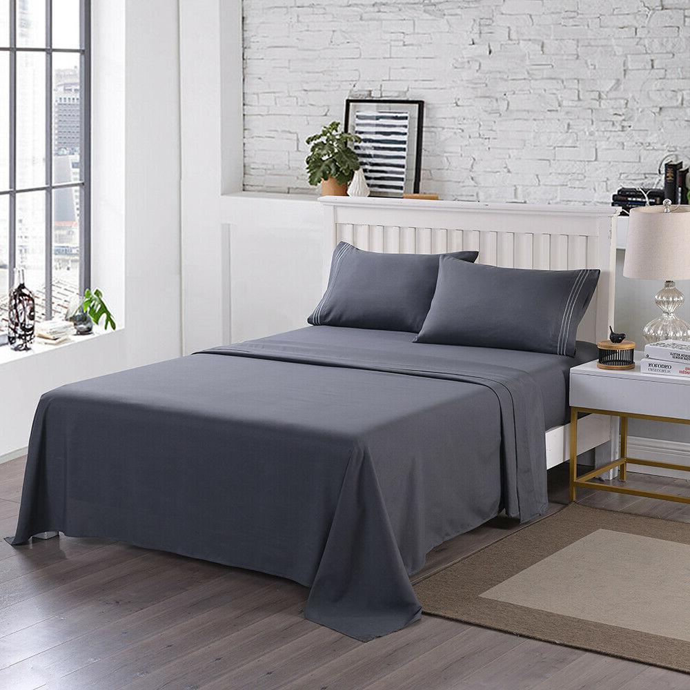 4 Piece Fitted Sheet 2200 Count Deep Sheets