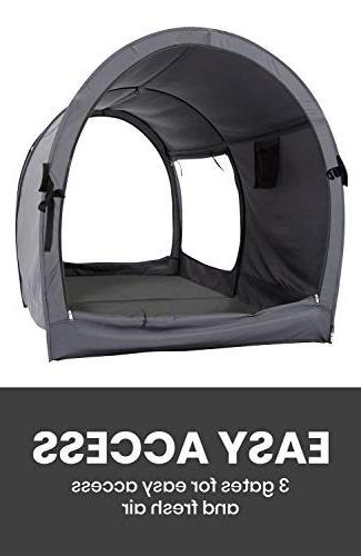 Space Sleeping Tents Indoor Frame Curtains Breathable Cottage