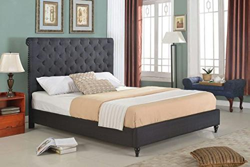 Home Life Bed 0008 furBed00008_Cloth_Black_King