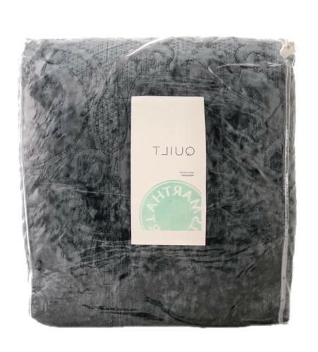 collection velvet flourish embroidered king quilt dusty