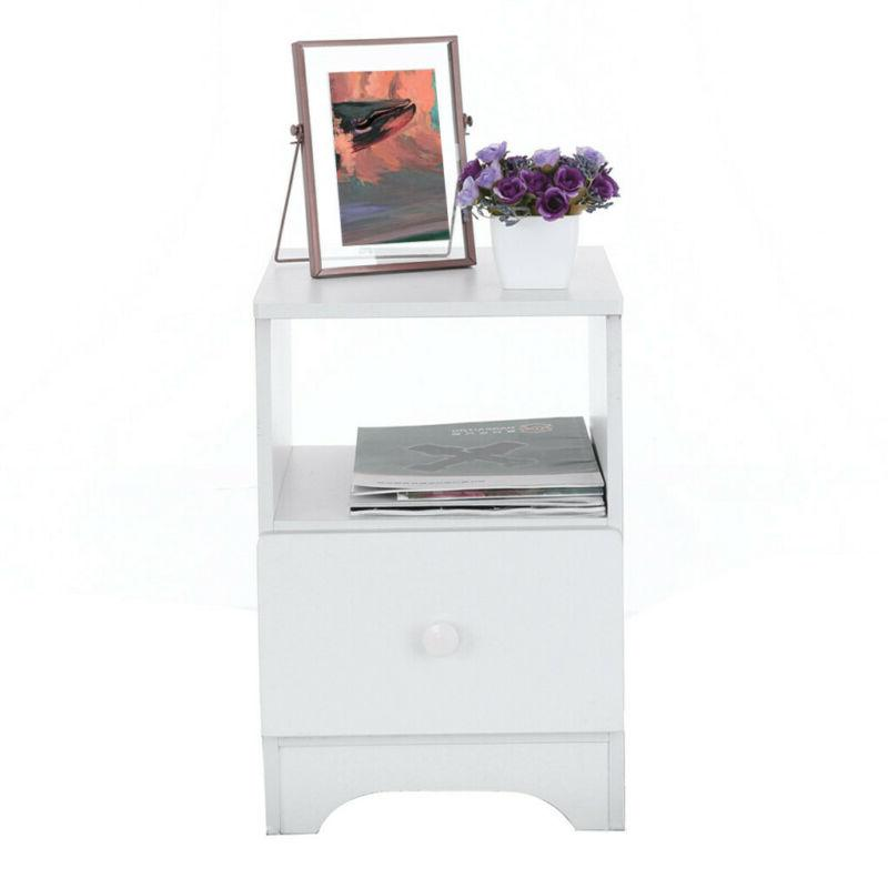 Modern Table Bed Table Shelf