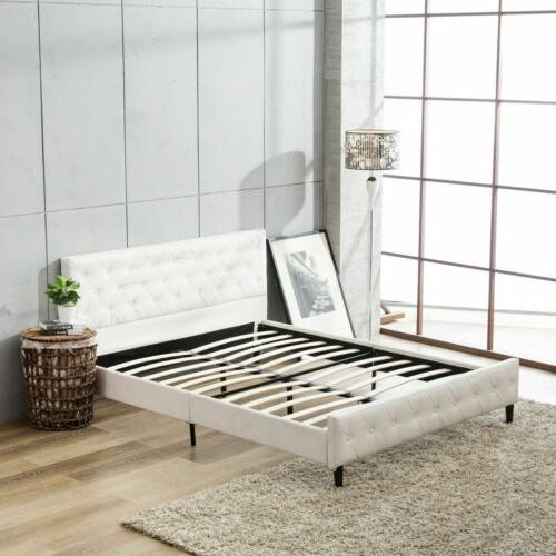 Queen Size Metal Button Tufted