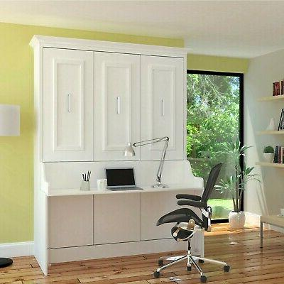 "URBAN ""ALEGRA"" Queen Wall - Easy Install White w/Desk"