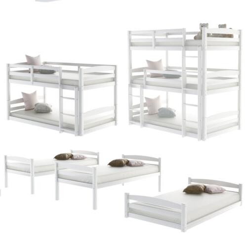 White/Gray Wood Over Beds 3 Kids