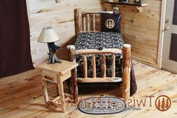 LAKESIDE EDITION RUSTIC LOG BED   -USA Handcrafted - ON SALE